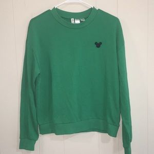 Disney Divided Embroidered Mickey Sweatshirt Sz M